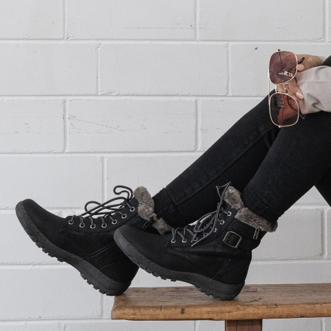 ARMY Lace Up Ankle Boots
