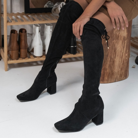 KAYN Black Over-The-Knee Boots