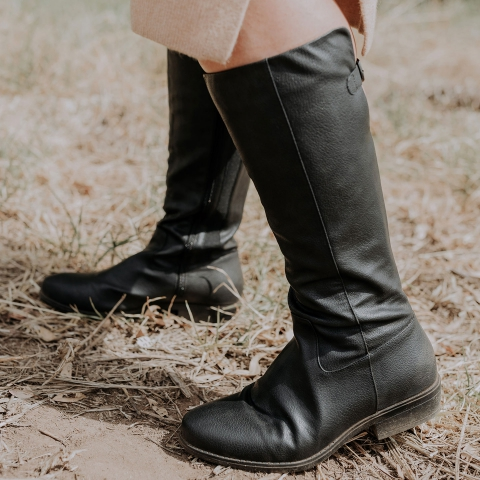 WIDE FIT HOLLY Vegan High Boots