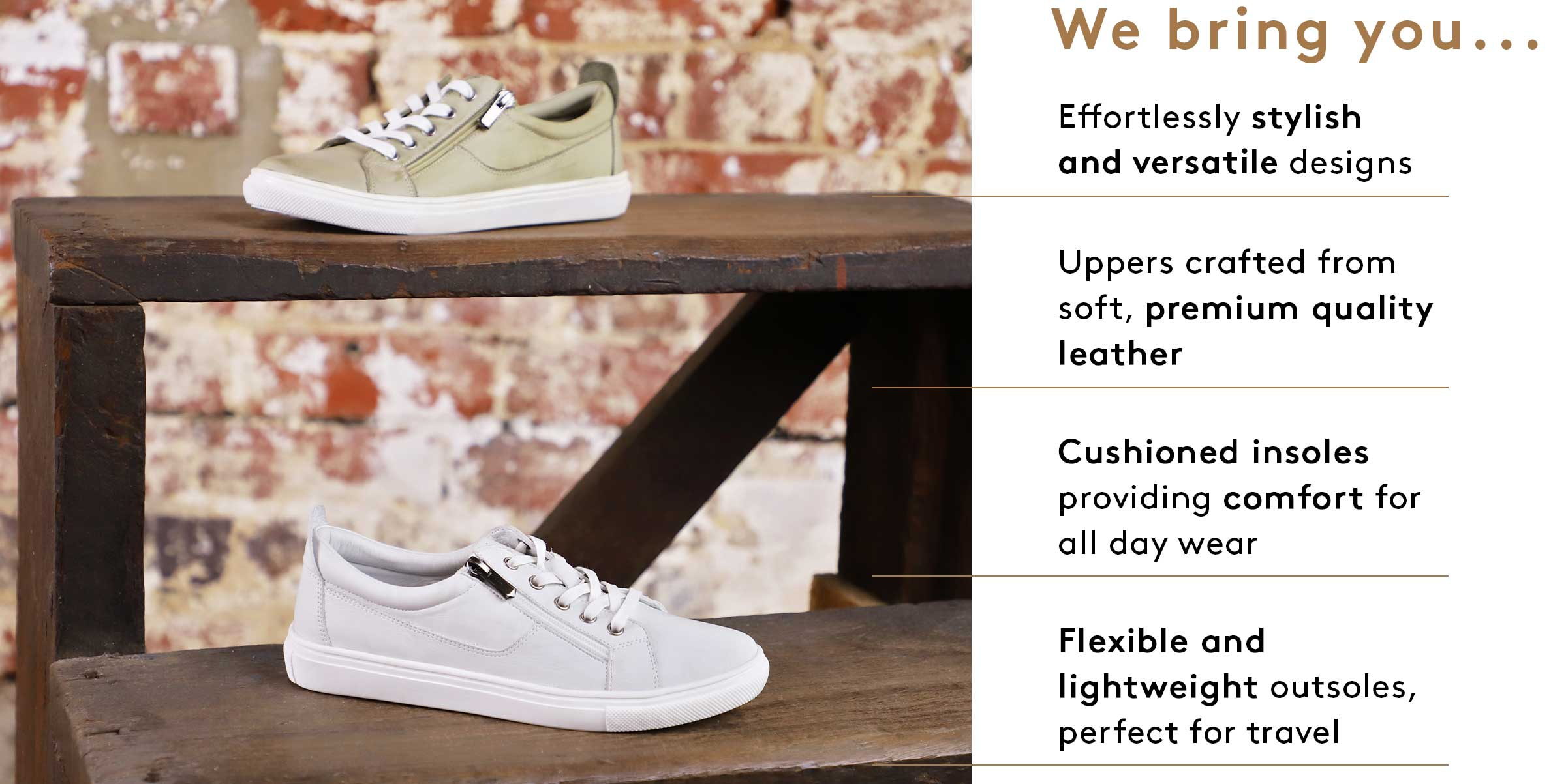 Our premium quality leather Airflex range is designed to provide lasting comfort and effortless style for all day wear.